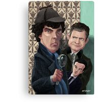 Sherlock Homes Watson and Moriarty at 221B Canvas Print