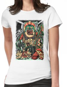Zombie Star Farter Pilot Womens Fitted T-Shirt