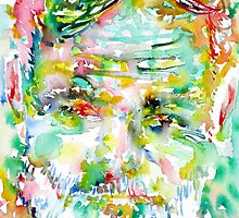 ERNEST HEMINGWAY watercolor portrait.3 by lautir