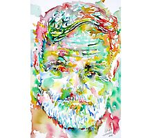 ERNEST HEMINGWAY watercolor portrait.3 Photographic Print