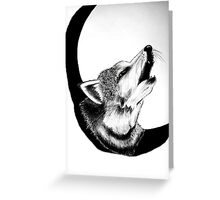 Wolf Call Greeting Card