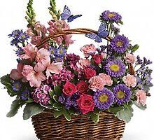 Country Basket Blooms Flowers by eastprovidencef