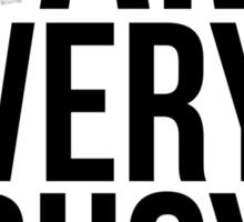 I am very busy (procrastinating) - Black Sticker