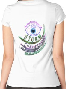 CALM is in the present moment, like the eye of a storm~ Women's Fitted Scoop T-Shirt