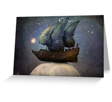 Sailing the Universe Greeting Card