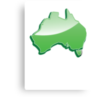 Australia Map simple in green Canvas Print