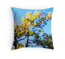 Sparse Green Yellow Throw Pillow