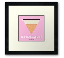 The Food Pyramid (How it should be) Framed Print