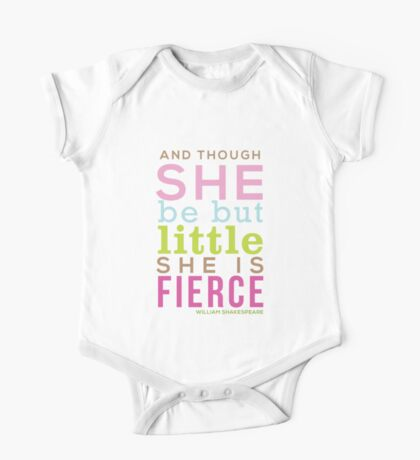 Though She be but Little - Shakespeare QUOTE One Piece - Short Sleeve