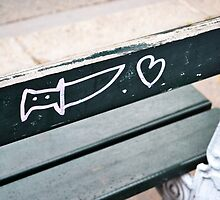 Knife & Heart Graffiti, Paris by Jessica Reilly