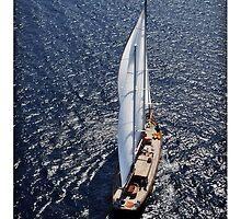 sailboat sailing by laikaincosmos