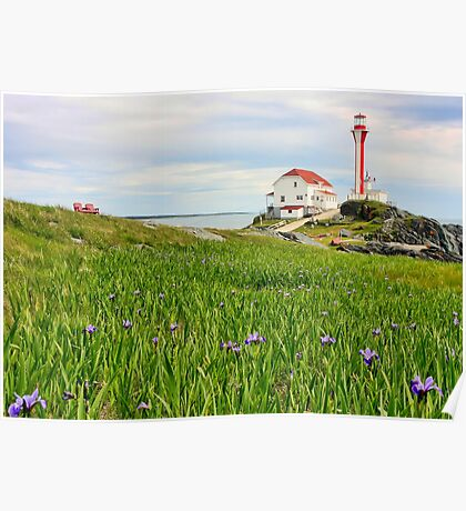 Cape Forchu Lighthouse in June Poster