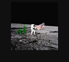 Moonlanding witnessed by the natives.  Womens Fitted T-Shirt