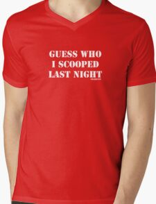 Guess Who I scooped Mens V-Neck T-Shirt
