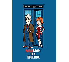 Mad Man In A Blue Box Photographic Print