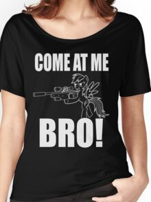 COME AT ME BRO - Line Version Women's Relaxed Fit T-Shirt