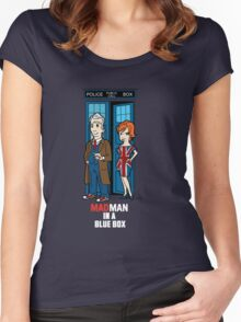 Mad Man In A Blue Box Women's Fitted Scoop T-Shirt