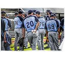 Tampa Bay Rays Baseball Team Poster