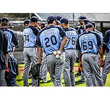 Tampa Bay Rays Baseball Team Photographic Print