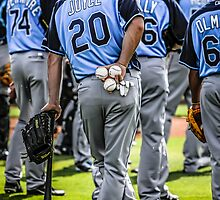 Players of the Tampa Bay Rays Florida by Chris L Smith