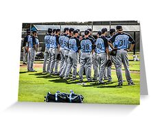 Players of the Tampa Bay Rays Florida Greeting Card