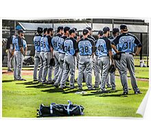 Players of the Tampa Bay Rays Florida Poster