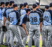 Players of the Tampa Bay Rays in Florida by Chris L Smith