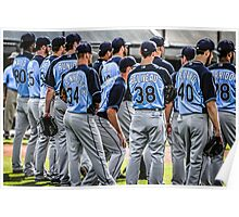 Players of the Tampa Bay Rays in Florida Poster