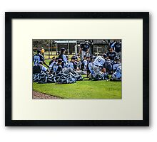 Players of the Tampa Bay Rays in Florida Framed Print