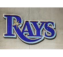 Tampa Bay Rays Logo, Florida Photographic Print