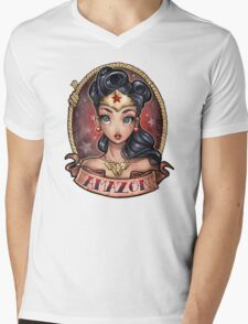 Amazon Pinup Mens V-Neck T-Shirt