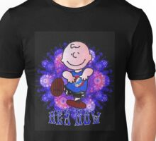Hey Now charlie brown black Unisex T-Shirt