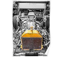 Selective toned Ford Model T Hot Rod Poster