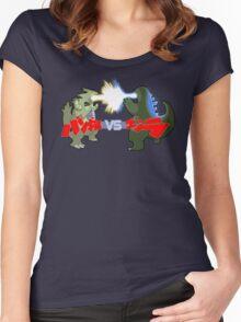 Tyranitar VS Godzilla Women's Fitted Scoop T-Shirt