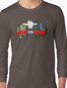 Tyranitar VS Godzilla Long Sleeve T-Shirt