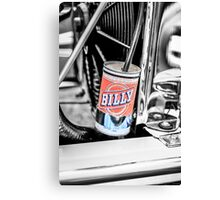 Hot Rod Billy Beer overflow can. Canvas Print