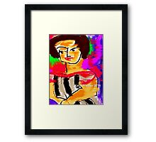 Rainy Monday Woman Framed Print