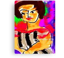 Rainy Monday Woman Canvas Print