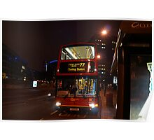 London Bus- Tooting Station Poster