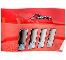 Red Corvette Stingray Gills Poster