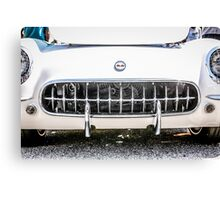 White 50s Chevy Corvette Grill Canvas Print