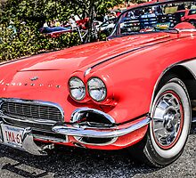 Red 1960s Chevy Corvette by Chris L Smith