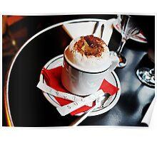 Cappuccino in Paris Café Poster