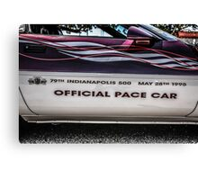 Indi 500 Corvette Pace Car Canvas Print