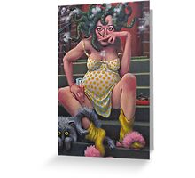 Another Saturday night with Medusa.   Greeting Card
