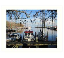 Harbor in Enkhuizen, Netherlands Art Print