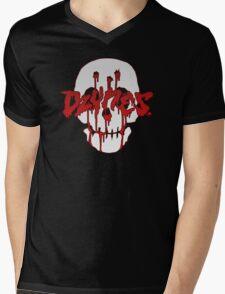 Blood Skull Mens V-Neck T-Shirt