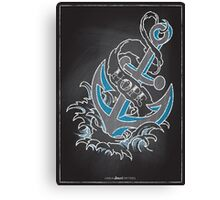 Chalk Board Tattoos - Hope Canvas Print