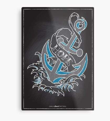 Chalk Board Tattoos - Hope Metal Print