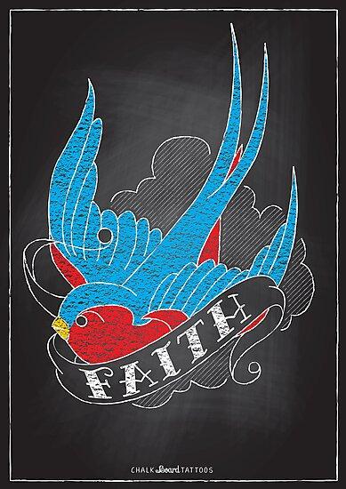 Chalk Board Tattoos - Faith by Rob Stephens